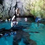 青の洞窟を少し入った所 16.11.05
