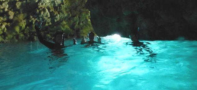 青の洞窟 フォトスポットにて 16.11.05