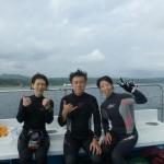 ダイビングを終えて記念に 17.08.12