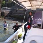 坊津のボート乗船 18.05.04
