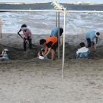 指宿の砂風呂 海テント側 18.05.05