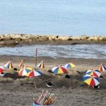 指宿の砂風呂 海パラソル側 18.05.05
