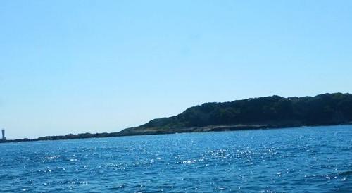 ボート上からの城ケ島 18.08.27