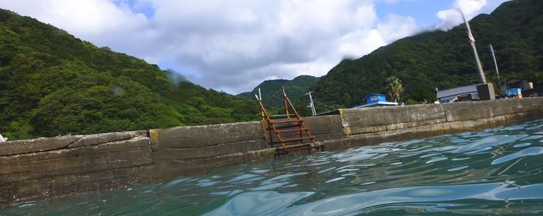 井田にてエキジット用ラダー 18.09.18