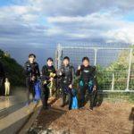 真栄田岬 階段前 20.11.07